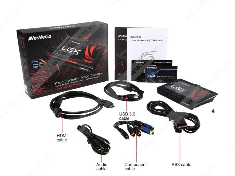 AVerMedia Live Gamer Extreme là 1 cad ghi hình dùng để Stream, ghi âm và  chơi các trò chơi trên PC với đồ hoạ tuyệt đẹp ở độ phân giải 1080p60 và ...